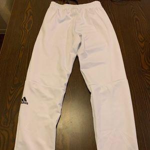 Adidas unisex skinny white pants size small